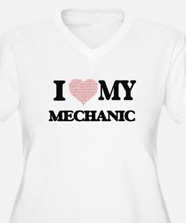 I love my Mechanic (Heart Made f Plus Size T-Shirt