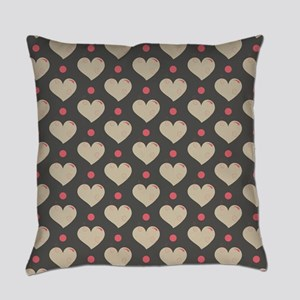 Hearts Pattern Everyday Pillow