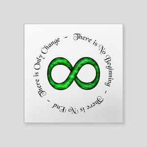 Infinity is Change Oval Sticker