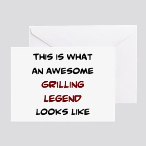 awesome grilling legend Greeting Card