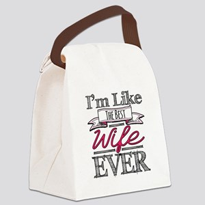 The Best Wife Ever Canvas Lunch Bag