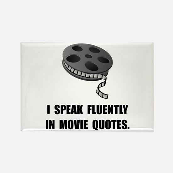 Unique Fluent in movie quotes and sarcasm Rectangle Magnet