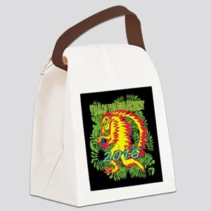 Fire Monkey Canvas Lunch Bag