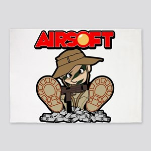 Airsoft Mac attack 5'x7'Area Rug