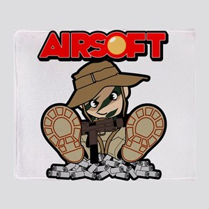 Airsoft Mac attack Throw Blanket