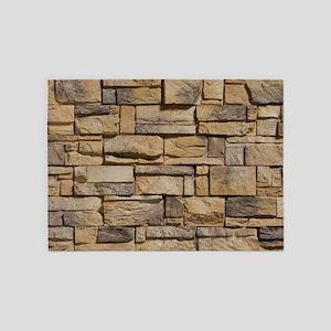 BLOCK WALL 1 5'x7'Area Rug