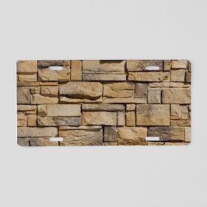 BLOCK WALL 1 Aluminum License Plate