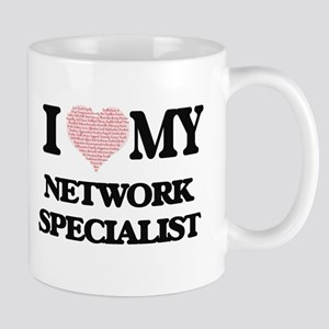 I love my Network Specialist (Heart Made from Mugs