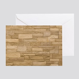 BLOCK WALL 2 Greeting Card