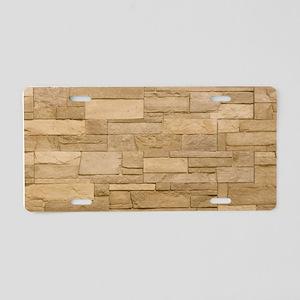BLOCK WALL 2 Aluminum License Plate