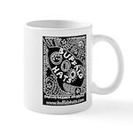 Rocketship Buffy (white On Black) Mugs