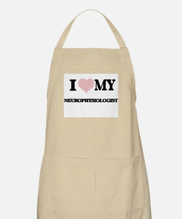I love my Neurophysiologist (Heart Made from Apron