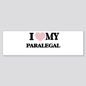 I love my Paralegal (Heart Made fro Bumper Sticker