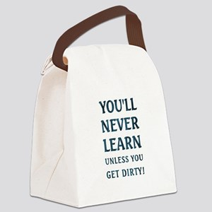 YOU'LL NEVER LEARN... Canvas Lunch Bag