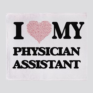I love my Physician Assistant (Heart Throw Blanket