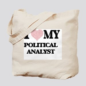 I love my Political Analyst (Heart Made f Tote Bag