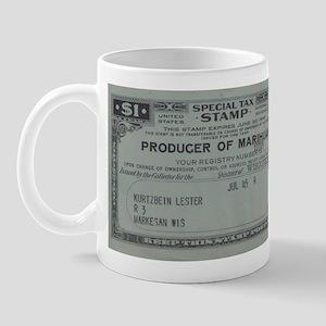 Marihuana Tax Stamp Mug