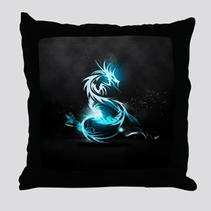 Glowing Dragon Throw Pillow