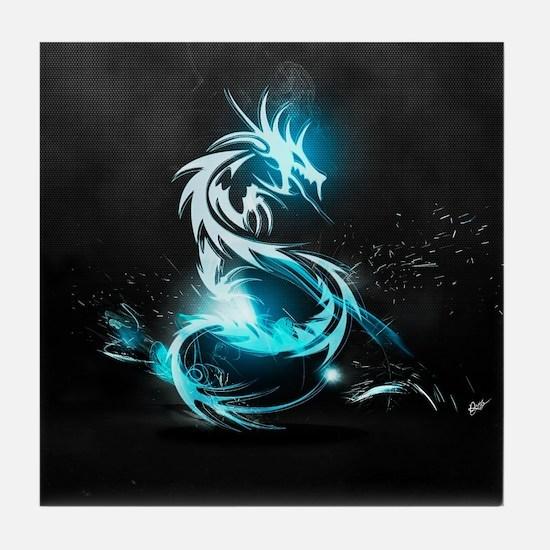 Glowing Dragon Tile Coaster