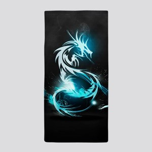 Glowing Dragon Beach Towel