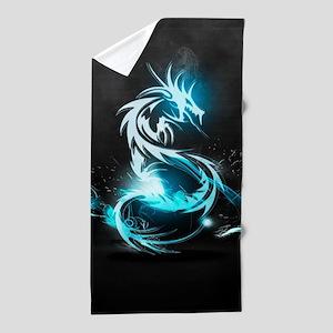 Glowing Dragon Beach Towel