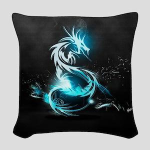 Glowing Dragon Woven Throw Pillow