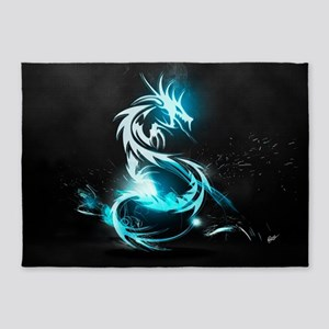 Glowing Dragon 5'x7'Area Rug