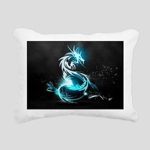 Glowing Dragon Rectangular Canvas Pillow