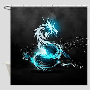 Glowing Dragon Shower Curtain