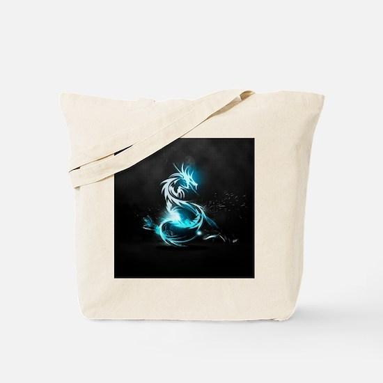 Glowing Dragon Tote Bag