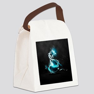 Glowing Dragon Canvas Lunch Bag
