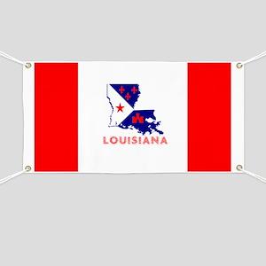 Louisiana Acadiana Red Stripes Banner