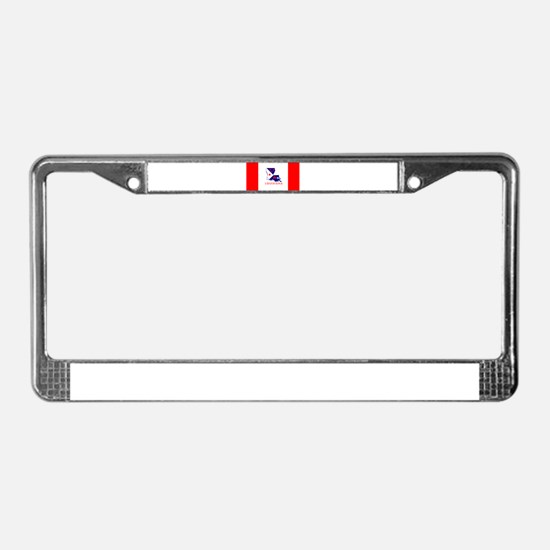 Louisiana Acadiana Red Stripes License Plate Frame