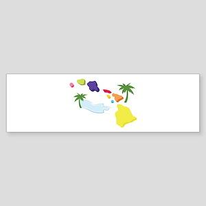 Hawaiian Islands Bumper Sticker