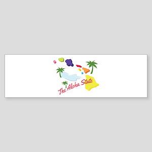 Aloha State Bumper Sticker