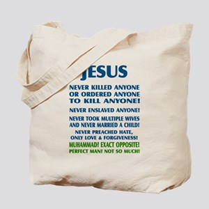 JESUS VS MUHAMMAD Tote Bag