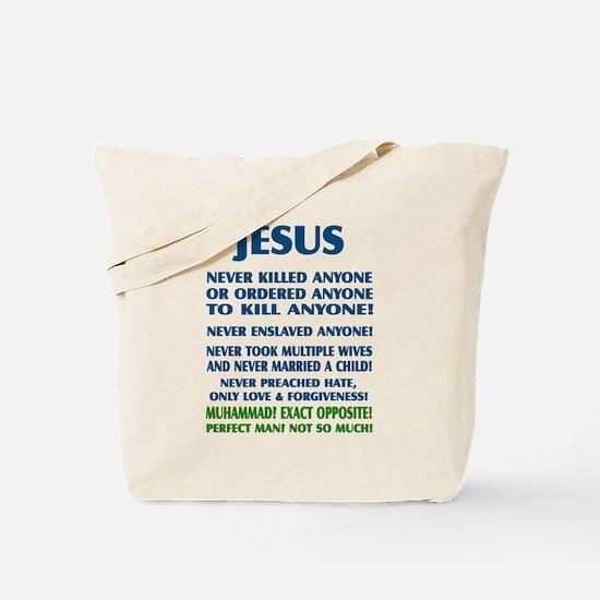 JESUS VS MUHAMMAD Tote Bag