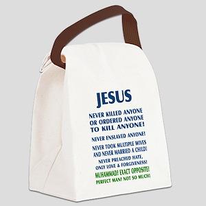 JESUS VS MUHAMMAD Canvas Lunch Bag