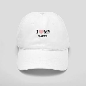 I love my Rabbi (Heart Made from Words) Cap
