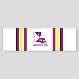 Louisiana Acadiana Purple and Gold Bumper Sticker