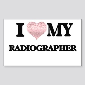 I love my Radiographer (Heart Made from Wo Sticker