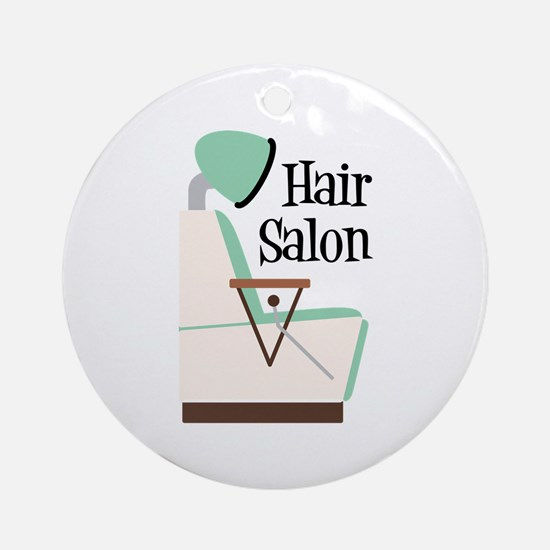 Hair Salon Round Ornament