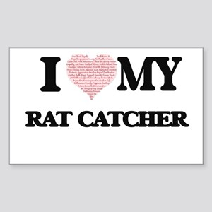 I love my Rat Catcher (Heart Made from Wor Sticker