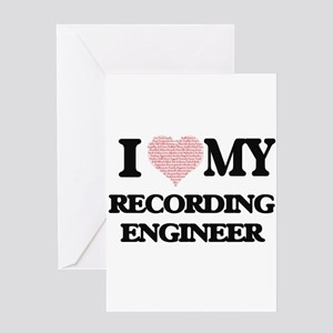 I love my Recording Engineer (Heart Greeting Cards