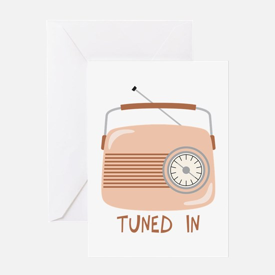 Radio Tuned In Greeting Cards