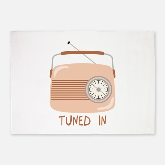Radio Tuned In 5'x7'Area Rug