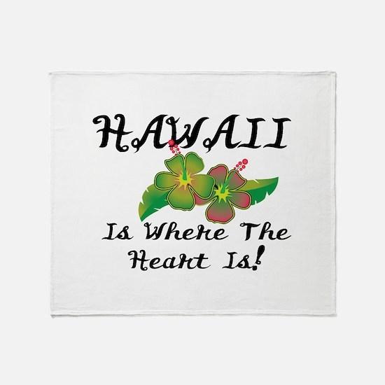 Heart In Hawaii Throw Blanket