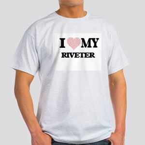 I love my Riveter (Heart Made from Words) T-Shirt