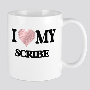 I love my Scribe (Heart Made from Words) Mugs