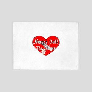 All Nurses Call The Shots 5'x7'Area Rug